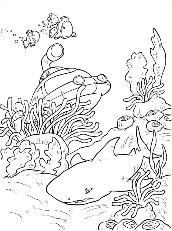 Dibujos de Rocket Bajo El Mar para Colorear, Pintar e Imprimir ...