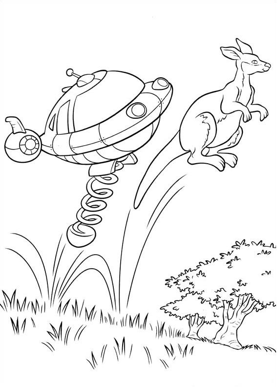 Dibujos de Rocket y Canguro para Colorear, Pintar e Imprimir ...
