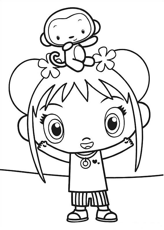 Dibujos de Hoho En Kai Lan para Colorear, Pintar e Imprimir ...
