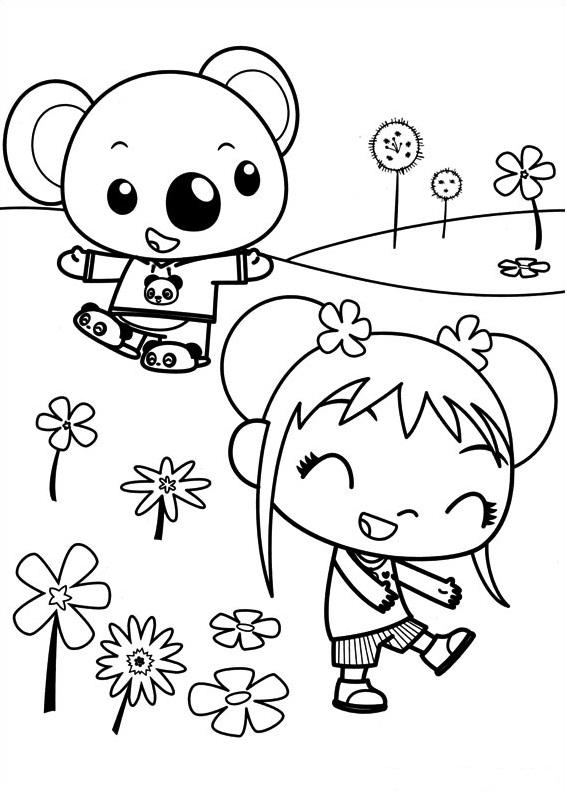Dibujos de Tolee y Kai Lan para Colorear, Pintar e Imprimir ...