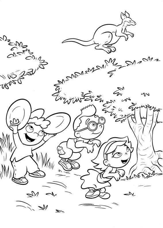 Dibujos de Little Einsteins Imitando Canguro para Colorear, Pintar e ...