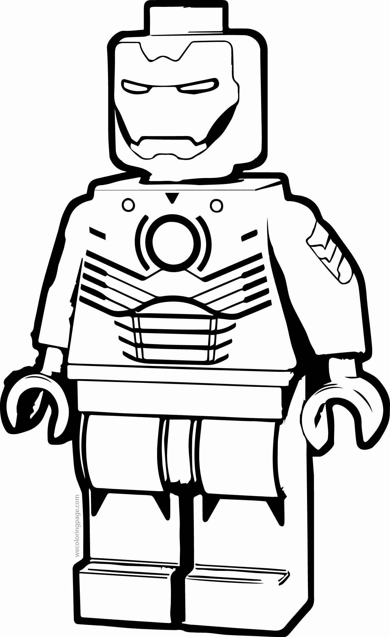 Ironman Lego Para Colorear