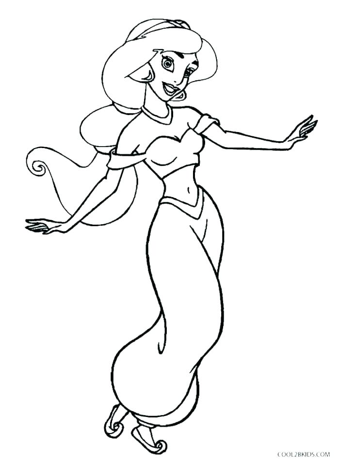 Dibujos De Princesa Jasmín Para Colorear Pintar E Imprimir