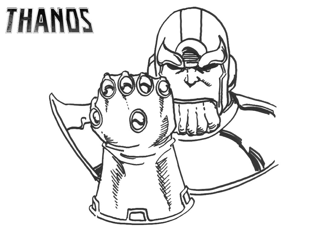 Dibujos De Thanos E Infinito Guantelete Para Colorear