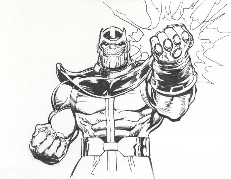 Dibujos De Fuerte Thanos Para Colorear Pintar E Imprimir