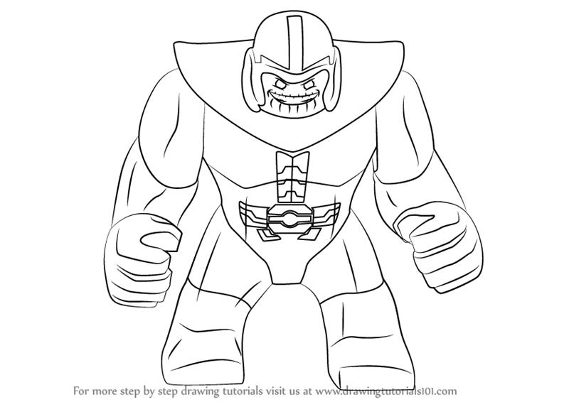 Lego Batman Ausmalbilder Inspirierend Avengers: Dibujos De Lego Thanos Para Colorear, Pintar E Imprimir