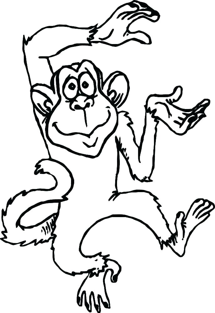 Dibujos de Mono Loco Bailando para Colorear Pintar e