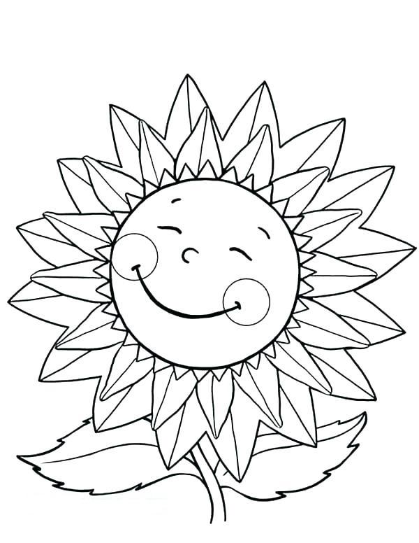 Dibujos De Feliz Girasol Para Colorear Pintar E Imprimir
