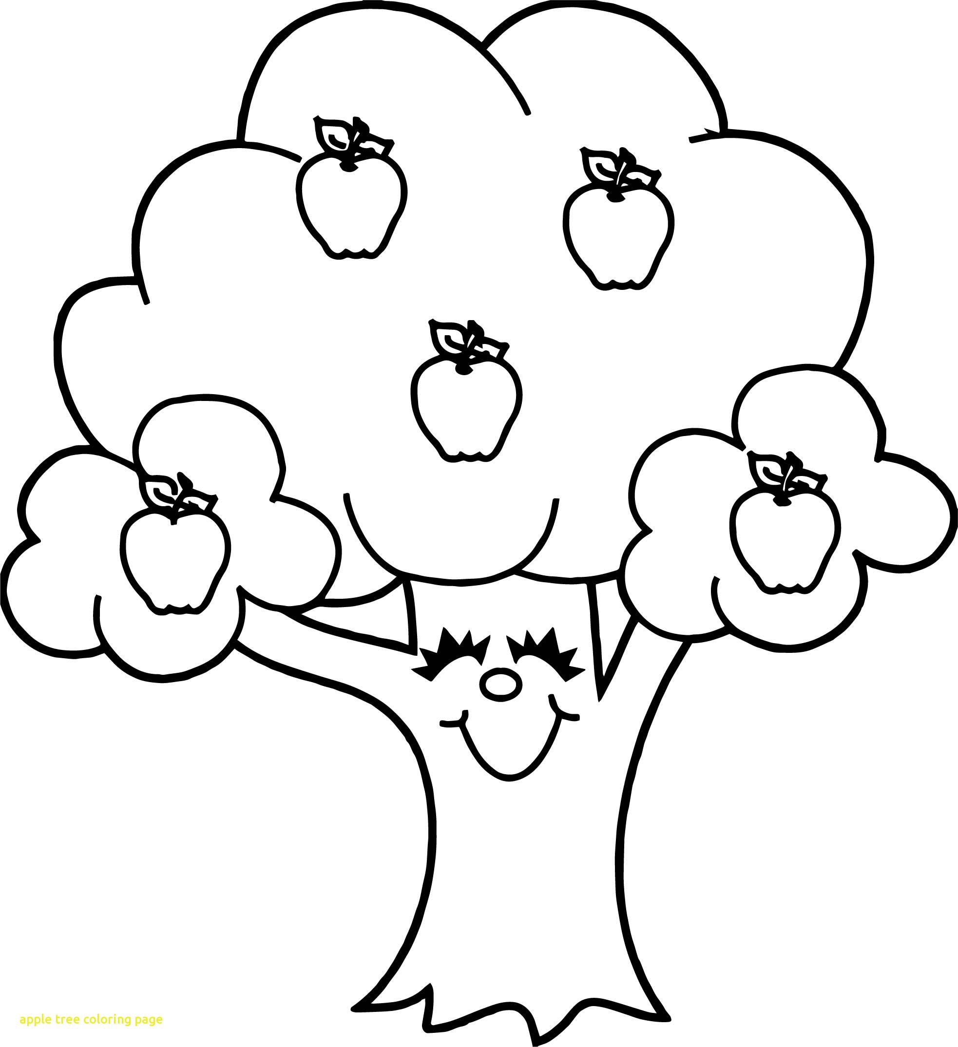 Dibujos De árbol De Manzana De Dibujos Animados Para