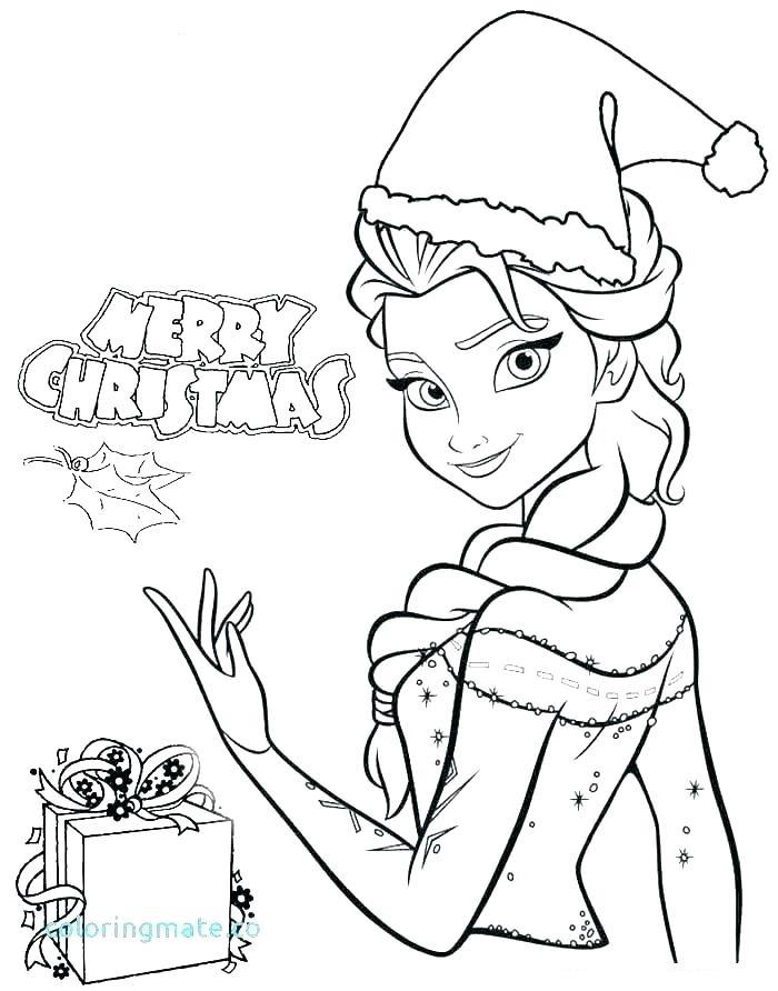 Dibujos De Feliz Navidad Con Elsa Para Colorear Pintar E