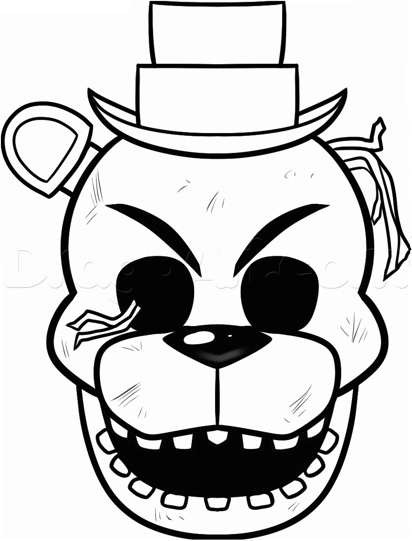 Dibujos De Cara De Freddy Para Colorear Pintar E Imprimir