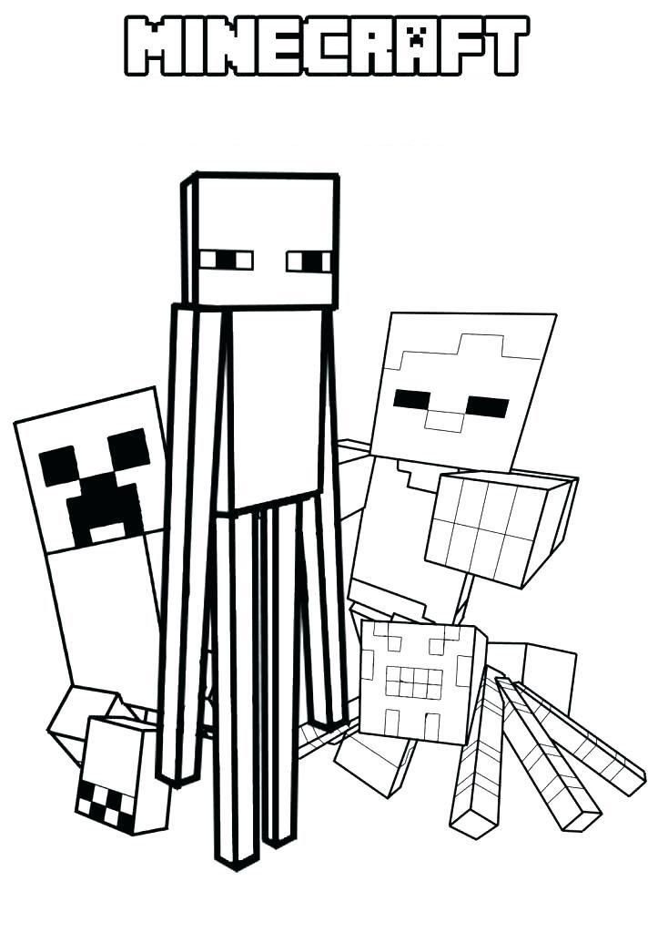 Dibujos de Monstruo Minecraft para Colorear, Pintar e ...