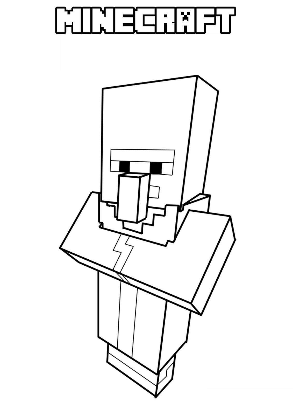Dibujos De Aldeano Minecraft Para Colorear Pintar E Imprimir