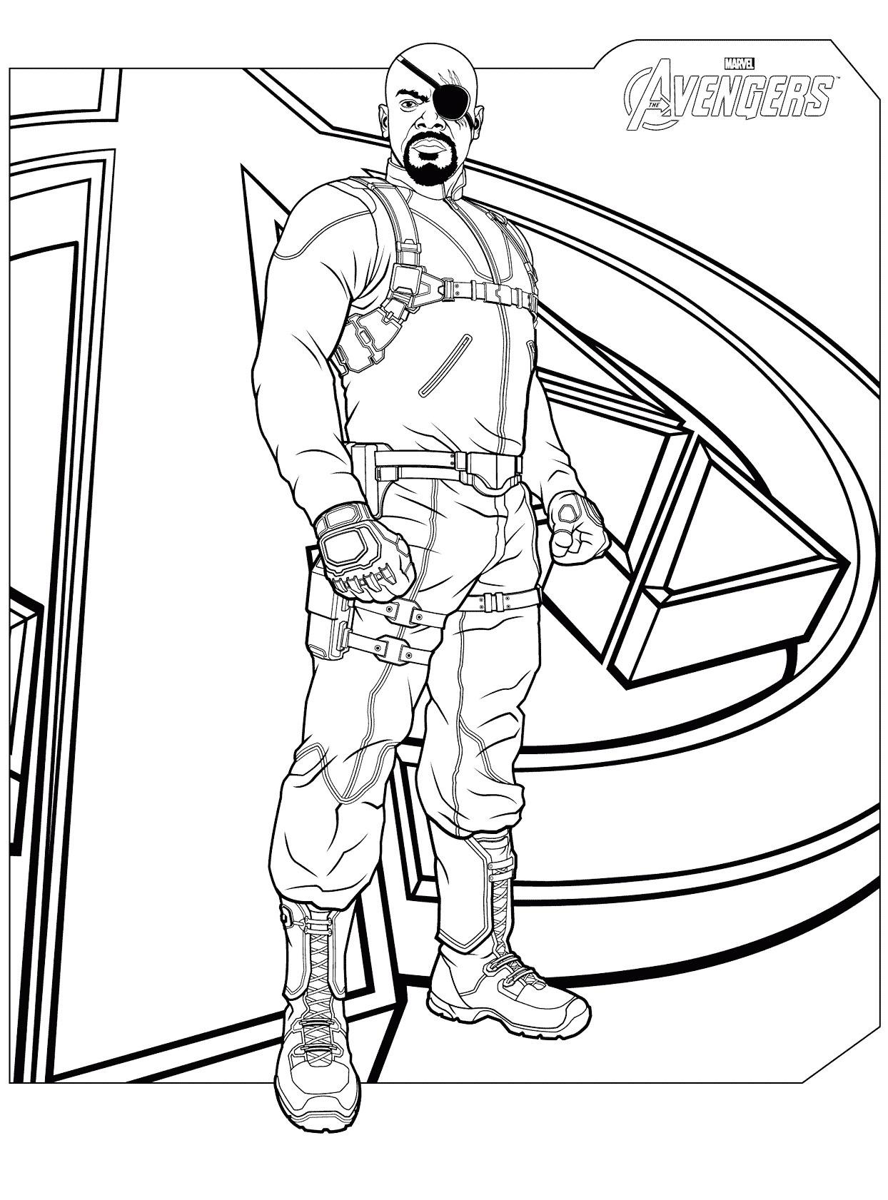 Dibujos De Impresionante Nick Fury Para Colorear Pintar E