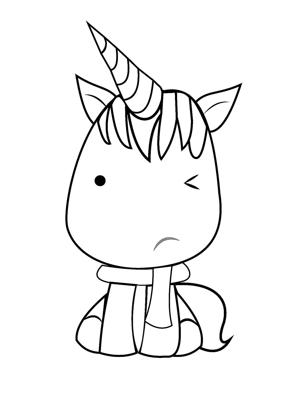 Dibujos De Unicornio Kawaii Para Colorear Pintar E Imprimir