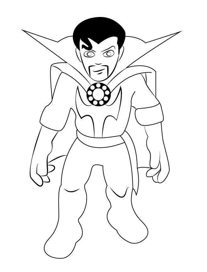 Dibujos De Magico Doctor Strange Para Colorear Pintar E
