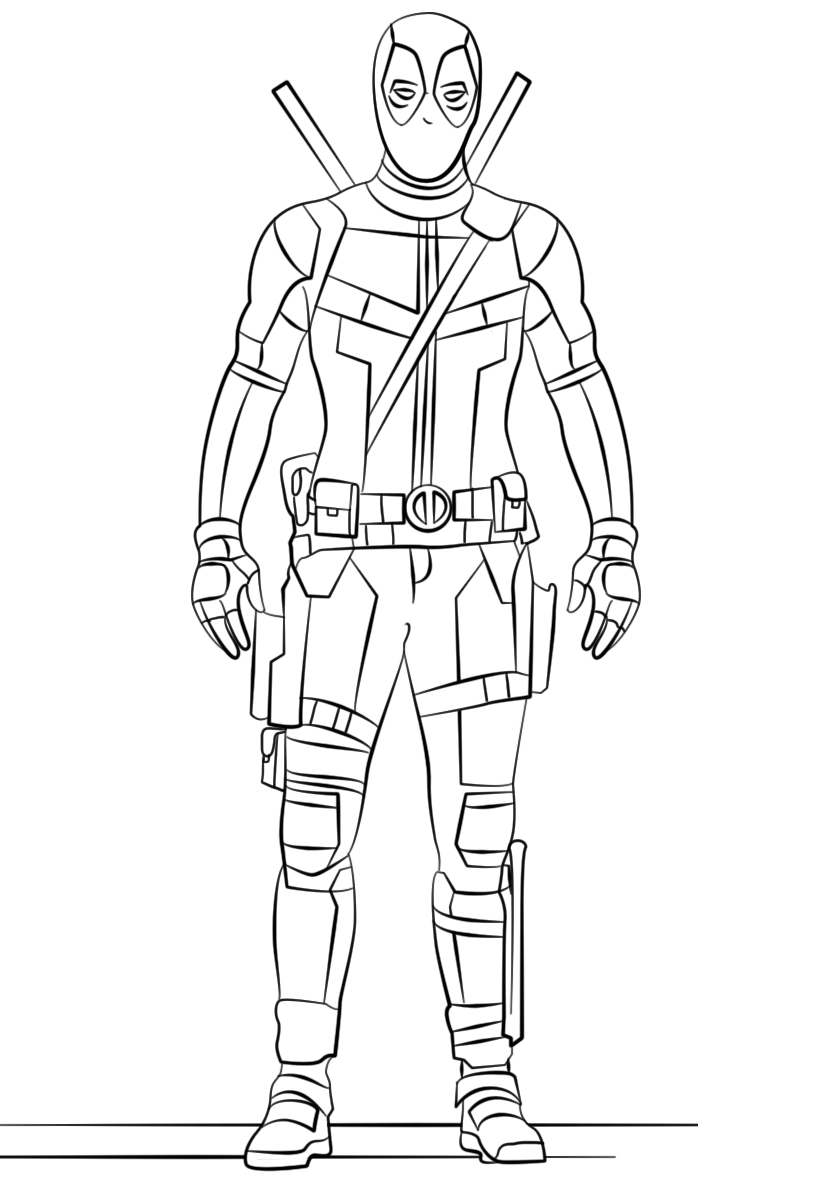 Click to see printable version of El Deadpool Coloring page