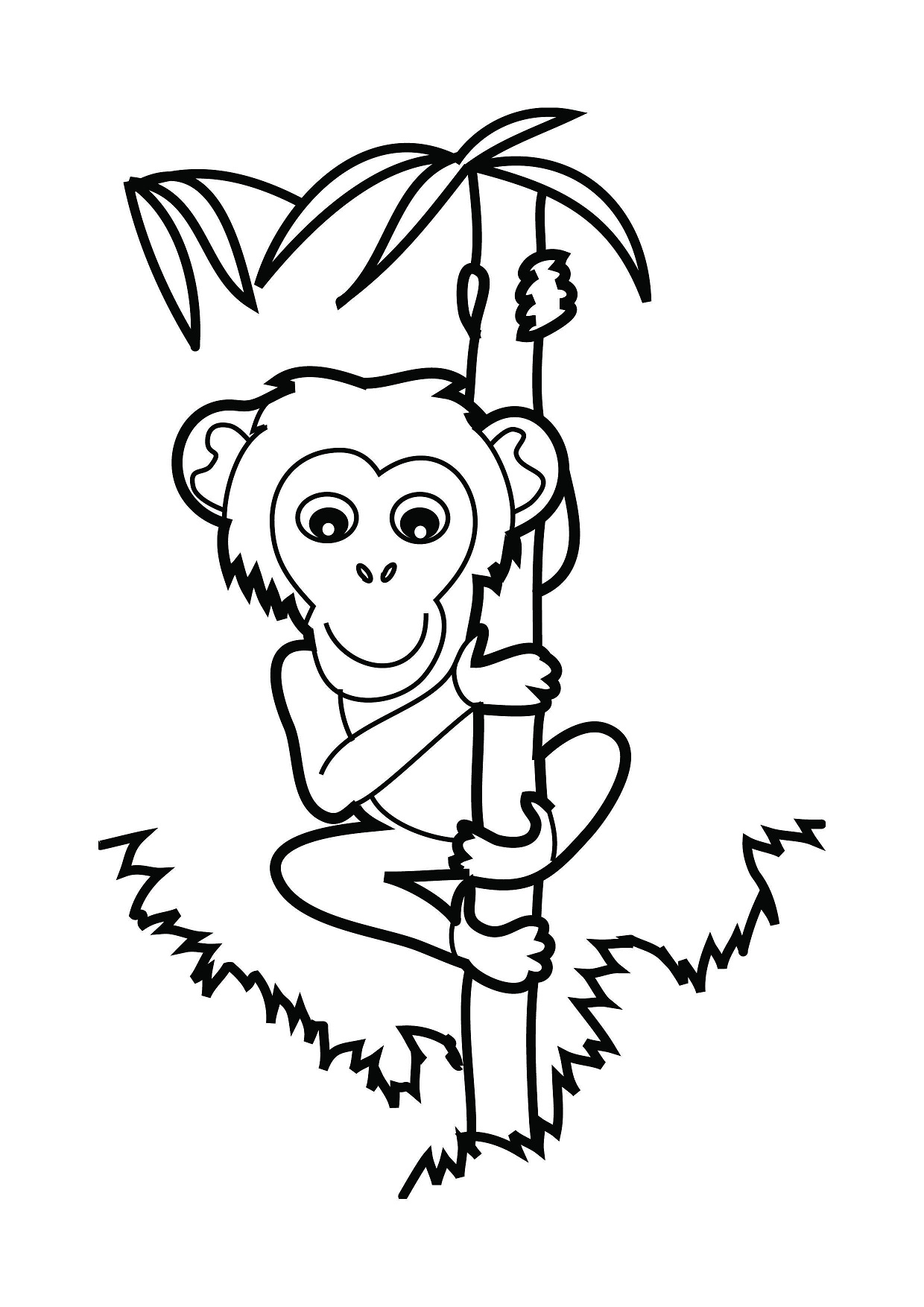 Click to see printable version of Escalada de Mono Coloring page