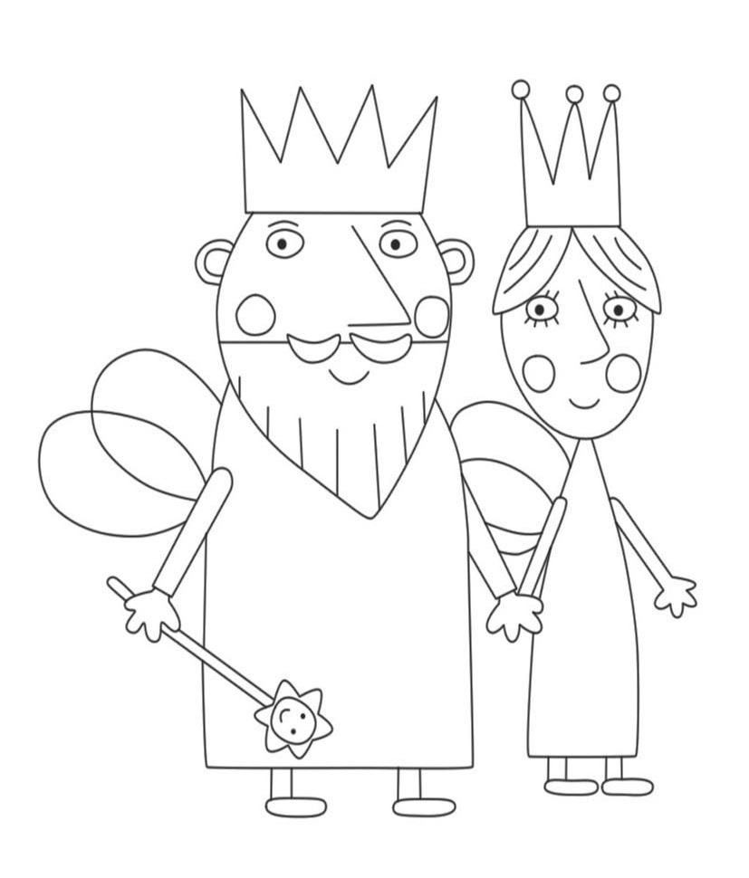 Dibujos De Rey Y Reina Cardo Para Colorear Pintar E