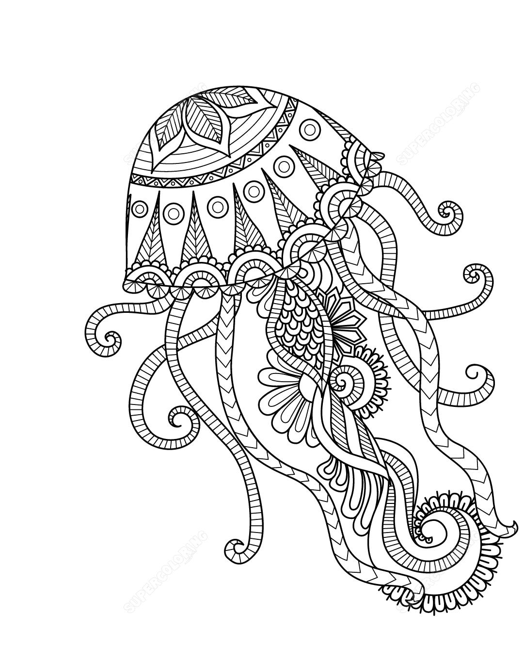 Dibujos De Medusa Mandala Para Colorear Pintar E Imprimir