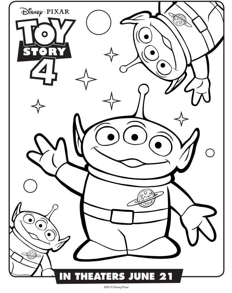 Dibujos De Marcianos Toy Story 4 Para Colorear Pintar E