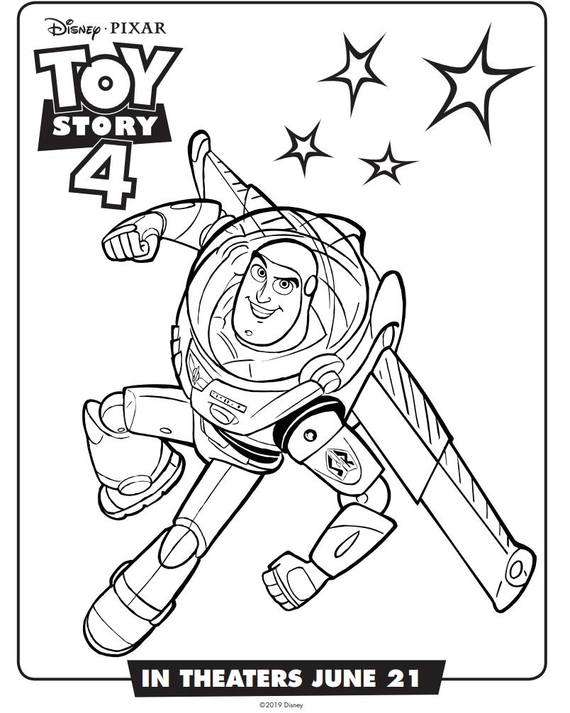 Dibujos De Buzz Lightyear Toy Story 4 Para Colorear Pintar