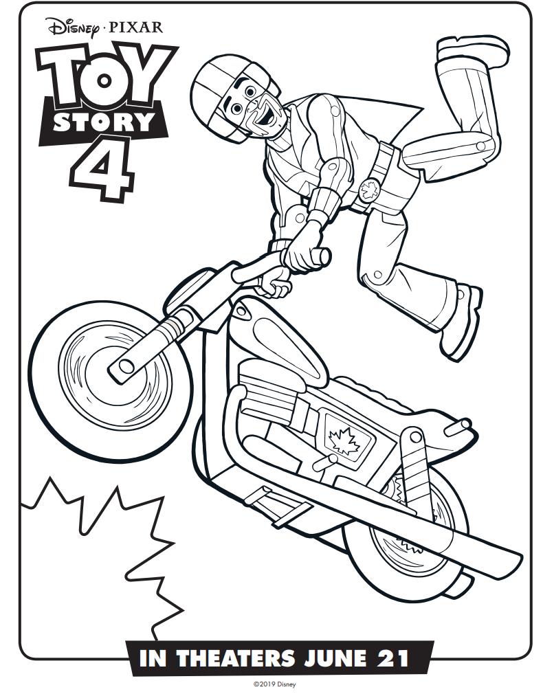 Dibujos De Duke Caboom Toy Story 4 Para Colorear Pintar E
