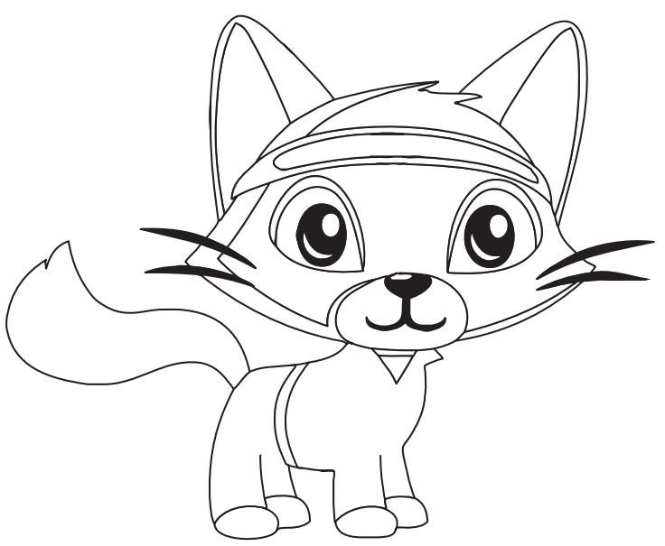Dibujos De Gato De Dibujos Animados Para Colorear Pintar E