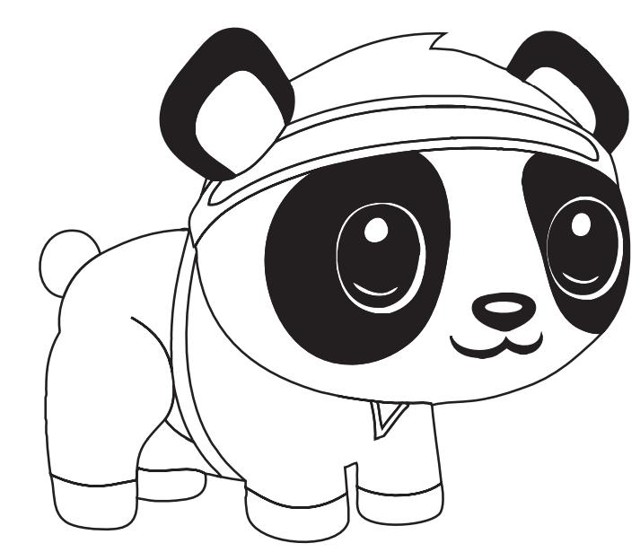 Dibujos De Panda De Dibujos Animados Para Colorear Pintar E