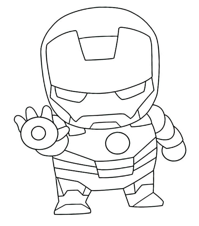 Dibujos De Iron Man Lindo Para Colorear Pintar E Imprimir