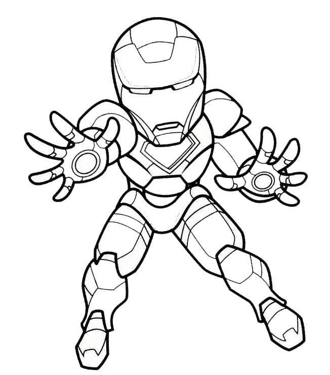 Dibujos De Iron Man Pequeño Para Colorear Pintar E Imprimir