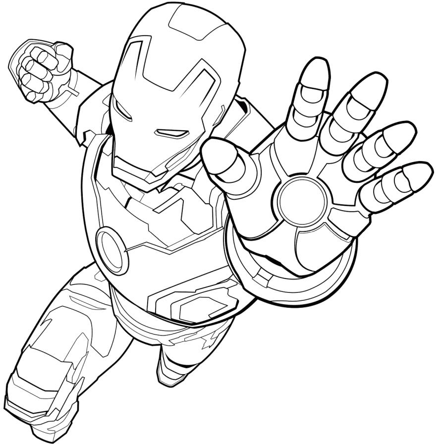 Dibujos De Iron Man Volando Para Colorear Pintar E Imprimir
