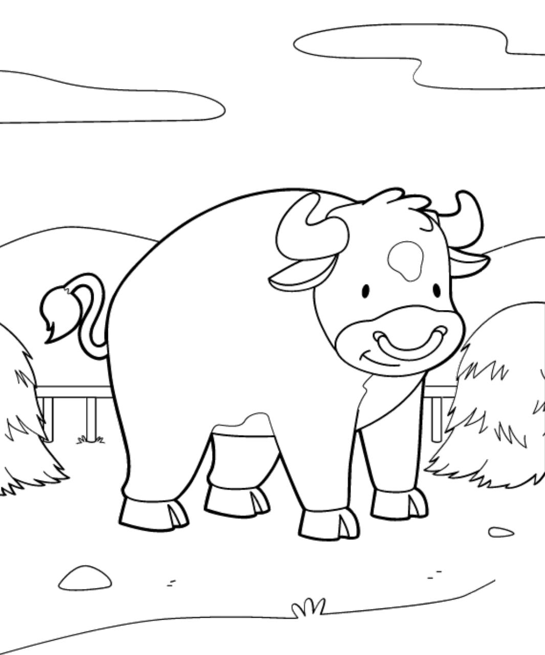 Dibujos De Toro Sonriendo Para Colorear Pintar E Imprimir