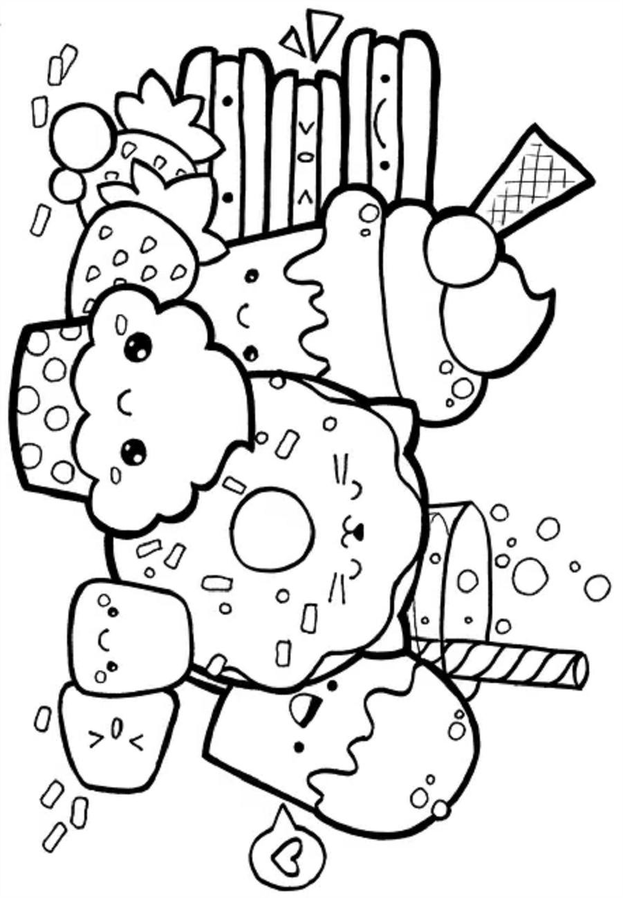 Dibujos De Comidas Kawaii Para Colorear Pintar E Imprimir