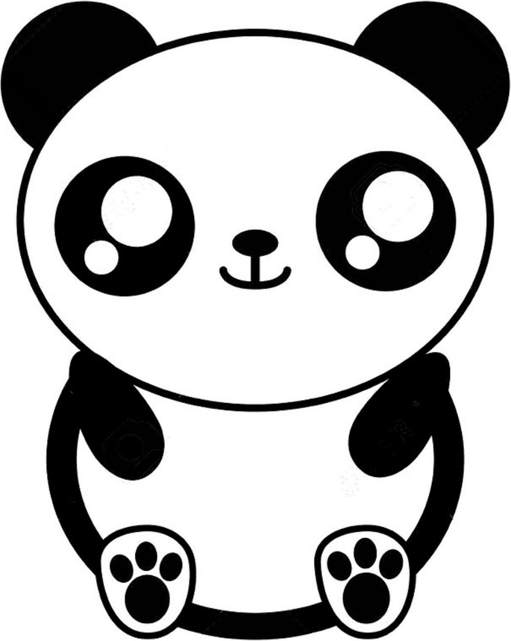 Dibujos De Oso Panda Kawaii Para Colorear Pintar E Imprimir