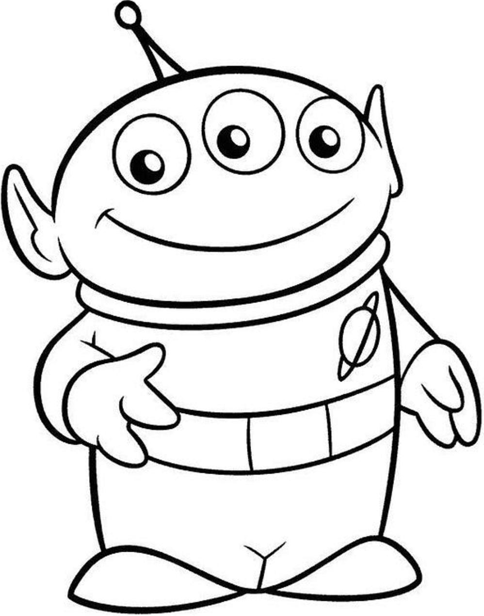 Dibujos De Marciano De Toy Story 4 Para Colorear Pintar E