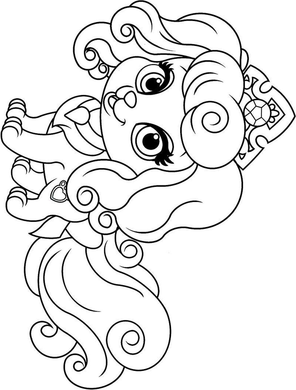 Dibujos De Perra Bonito Kawaii Para Colorear Pintar E