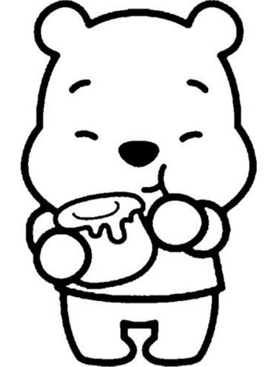 Dibujos De Pooh Kawaii Para Colorear Pintar E Imprimir