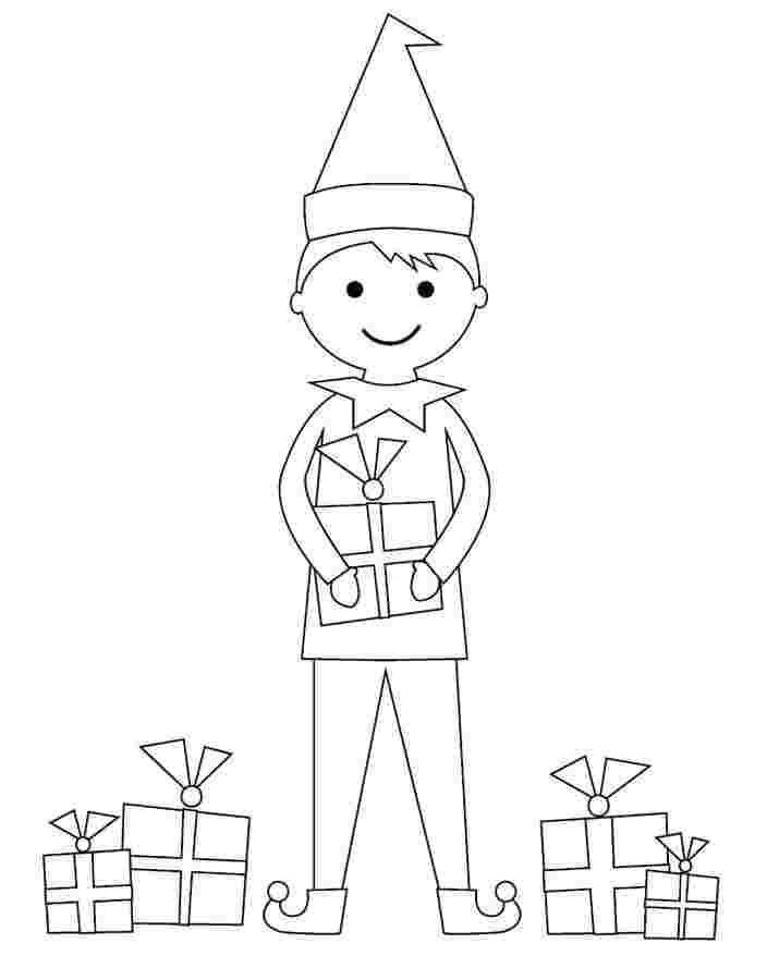 Dibujos De Niño Elfo Para Colorear Pintar E Imprimir